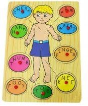 Fa puzzle, öltöztetős- 48189