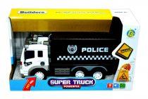 Rendőr teherautó - elemes - dobozban - 48457