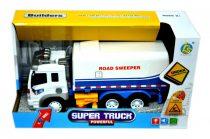 Utcaseprő teherautó - elemes - dobozban - 48459