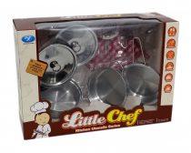 Konyhai edény szett - fém - dobozban - 48894