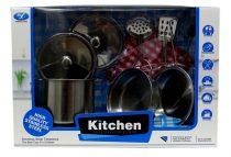 Konyhai edény szett - fém - dobozban - 48895