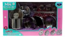 Konyhai edény szett - fém - dobozban - 12 darabos - 48898