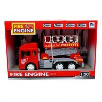 Tűzoltóautó - elemes - dobozban - 48904