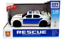 Rendőrautó - elemes - dobozban - 48917