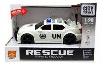 Rendőrautó - elemes - dobozban - 48918