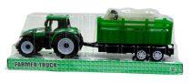 Traktor pótkocsival - állatszállító - dobozban  - 48991