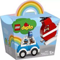 LEGO DUPLO - tűzoltó helikopter és rendőrautó csomag - 49002