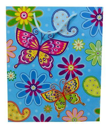 Papírtasak - pillangós - 70461