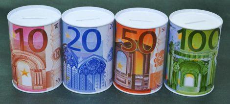 Persely - eurós - fém - 70501