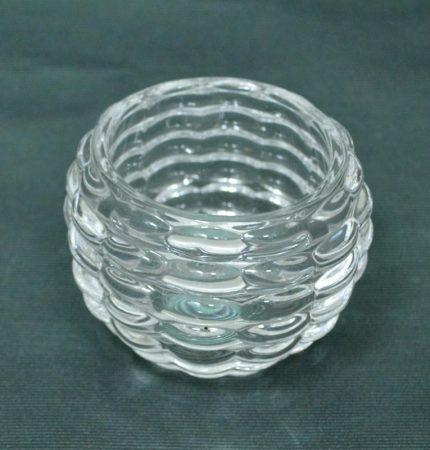 Üveg gyertyatartó, 6 cm - 70572