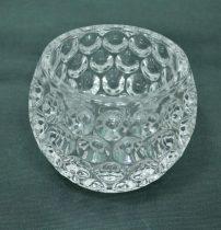 Üveg gyertyatartó, 8 cm - 70573