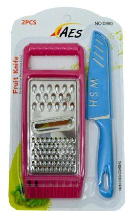 Reszelő + kés készlet lapon - 70714