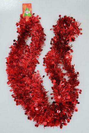 Boa csillagokkal - 2 méter - piros - 70798