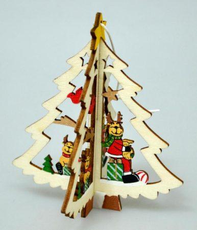 Karácsonyfadísz , natúr, 10,5 cm - 70810