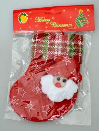 Karácsonyi csizma, szövet, 14 cm - 70852