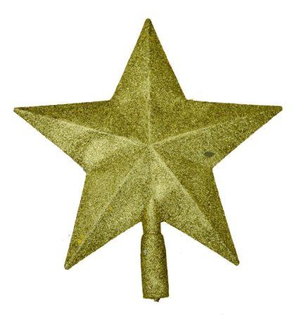 Karácsonyfa csúcsdísz - csillag - arany - 70858