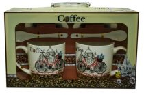 Bögre szett, coffe,biciklis - 71099