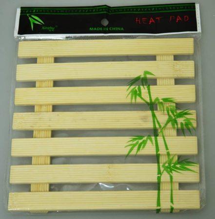 Alátét, bambusz, 17 x 17cm - 71216