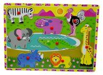 Fa puzzle, állatos - 71345