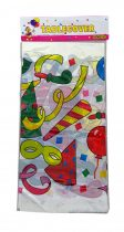Terítő - műanyag - születésnapos - 108 x 180 cm - 71695