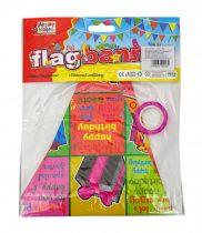 Parti zászló csomag - 10 darabos - füzéres - születésnapos - 71696