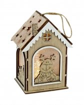 Karácsonyi házikó fából - világítós - 71729