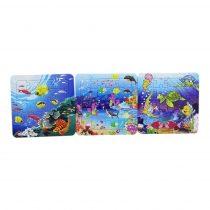 Puzzle csomag lapon - 3 db puzzle - kirakós játék - 71812