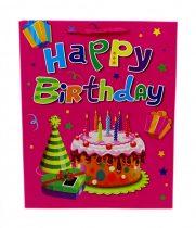 Papírtasak - Happy Birthday - Születésnapos - 26 x 32 cm - 71895