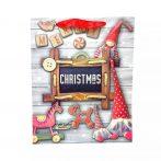 Papírtasak karácsonyi - 26 x 32 x 10 cm - 71905