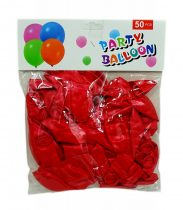 Lufi csomag - 50 db - 30 cm - piros - 71973