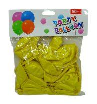 Lufi csomag - 50 db - 30 cm - sárga - 71976