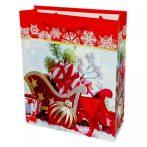 Papírtasak karácsonyi - 26 x 32 x 10 cm - 72037