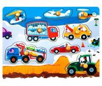 3D fa puzzle - bedugós járművek - 81000