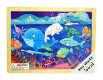 3D fa puzzle állatos - Tengeri állatok - 81004