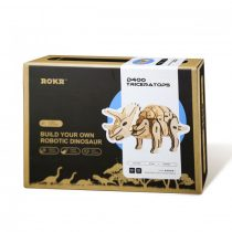 Robotime 3D interaktív fa puzzle - Triceratops dínó - 81010
