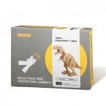 Robotime 3D  fa puzzle - mozgó T-rex dínó - 81011