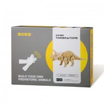 Robotime 3D  fa puzzle - mozgó Triceratops dínó - 81012