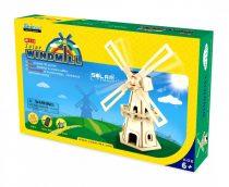 Robotime 3D fa puzzle - napelemes szélmalom - 81016