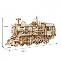 Robotime 3D fa puzzle klasszikus gőzmozdony - 81019
