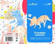 Robotime 3D fa puzzle dínó - Triceratops - 81039