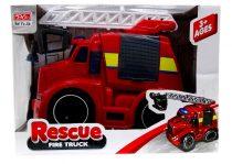 Tűzoltóautó - elemes - dobozban - lendkerekes - 82002