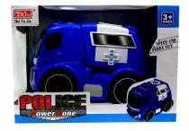 Rendőrautó - elemes - dobozban - lendkerekes - 82003