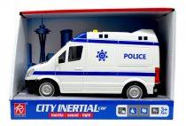 Rendőrautó - elemes - dobozban - lendkerekes - 82005