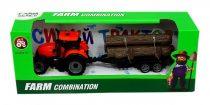 Traktor pótkocsival - dobozban - 82010