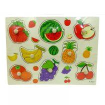 Fa puzzle - bedugós gyümölcsök - 82187